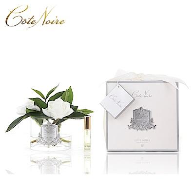 法國 CoteNoire 蔻特蘭 三朵槴子花香氛花透明瓶