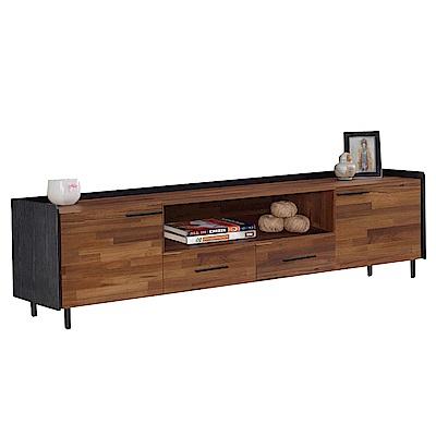 文創集 艾羅時尚5.9尺木紋雙色電視櫃/視聽櫃-178x50x50cm免組