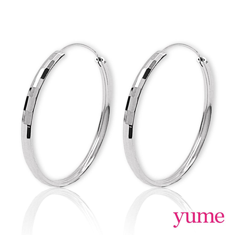 YUME - 長方格大圈圈耳環(40mm)