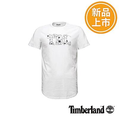 Timberland 男款白色Dry River反光短袖T恤