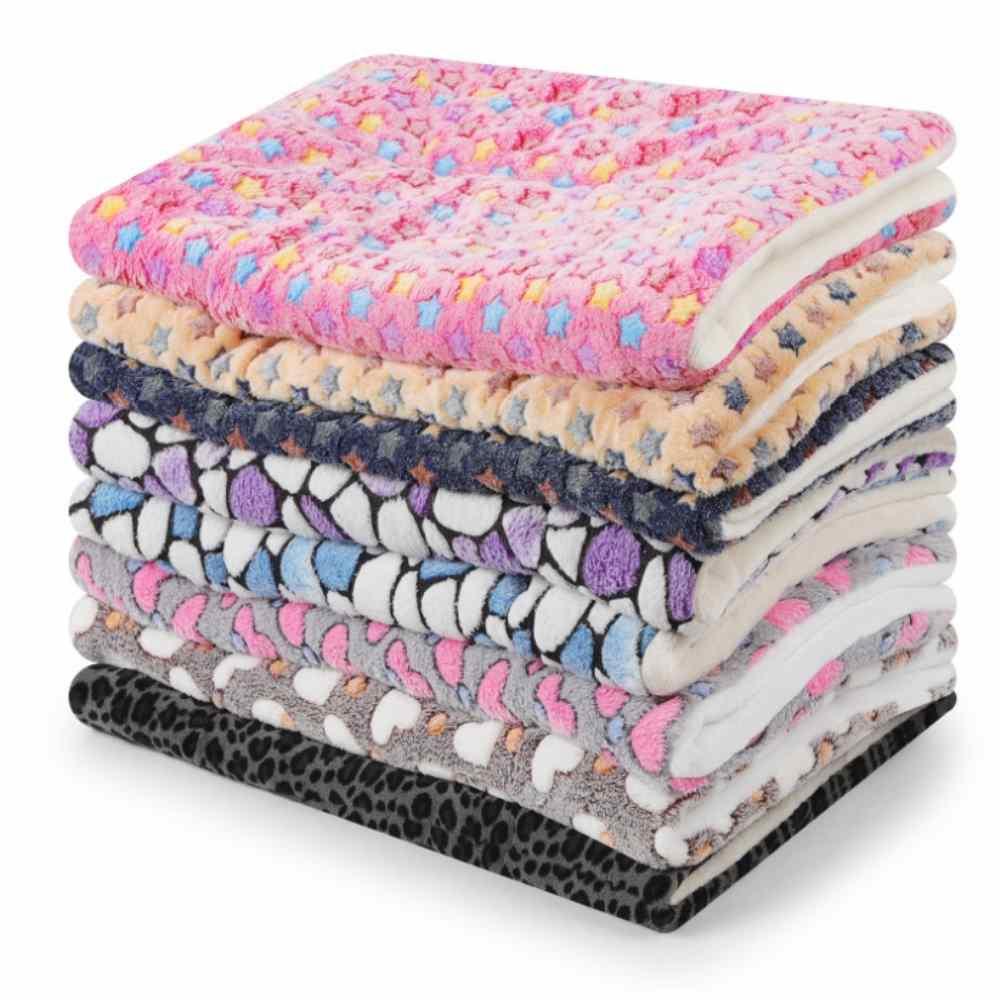 dyy》珊瑚絨毛星星寵物毯睡墊L號70*55cm
