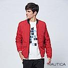 Nautica立領防水保暖夾克-亮紅色