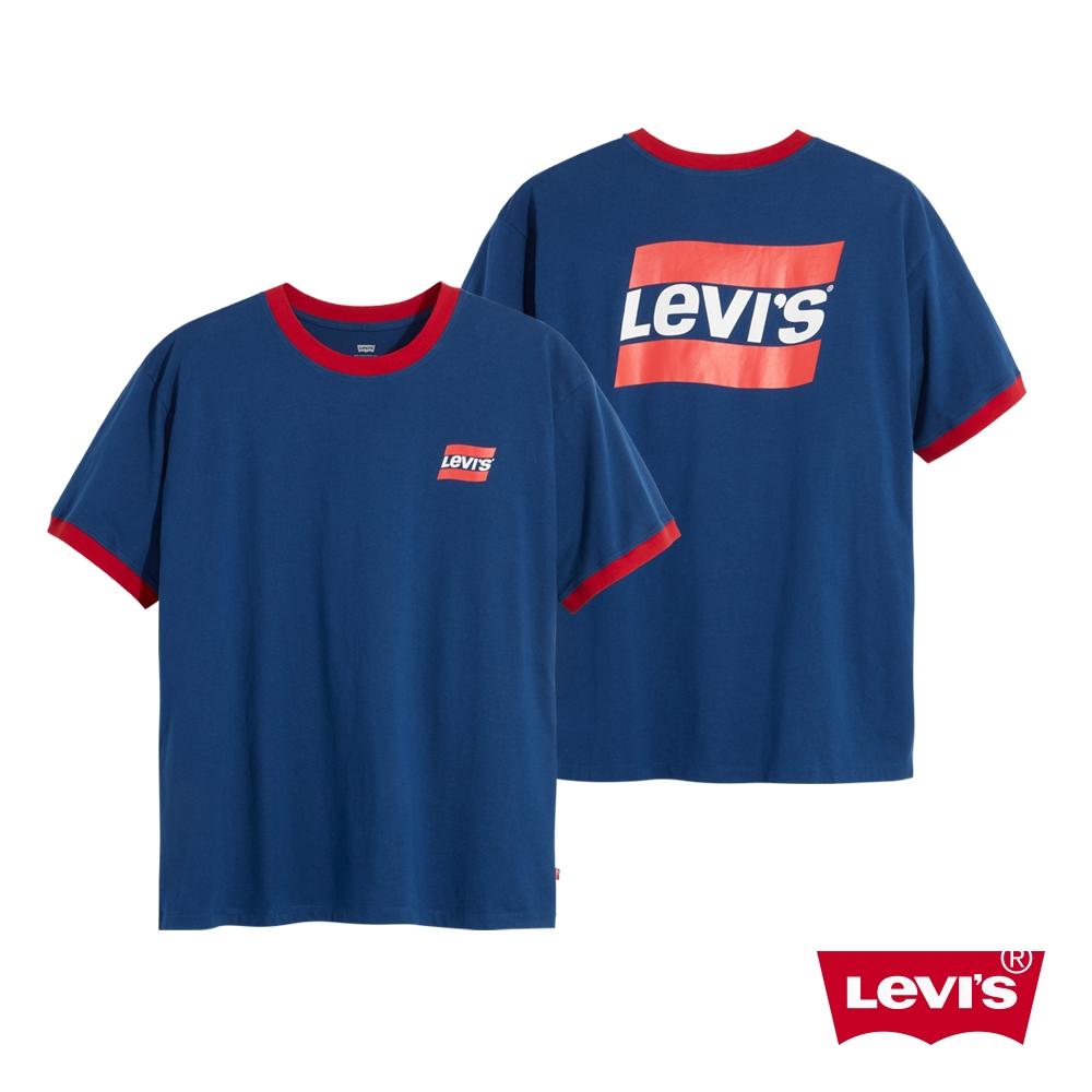 Levis 男款 滾邊短袖T恤 復古運動風Logo More Than Medals 系列 藍