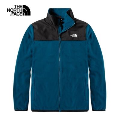 The North Face北面男款藍色保暖抓絨外套 49AEY01