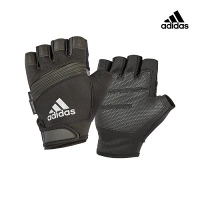 【Adidas愛迪達】防滑短指手套(格調灰)