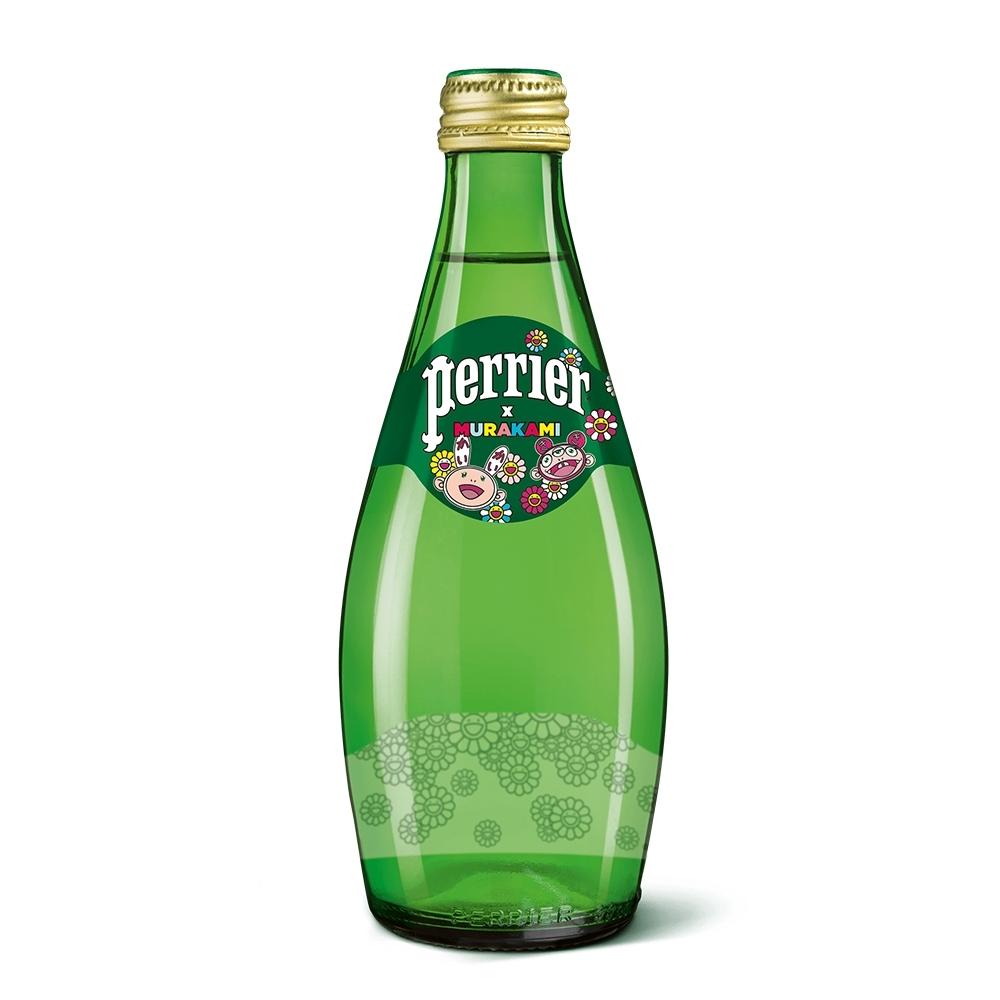法國沛綠雅Perrier 氣泡天然礦泉水村上隆經典版(玻璃)(330mlx24入)