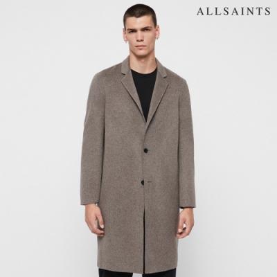 ALLSAINTS HANSON 素色羊毛寬鬆簡約大衣