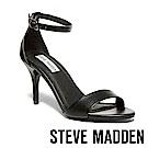 STEVE MADDEN-SILLY 細帶繞踝細高跟涼鞋-黑色
