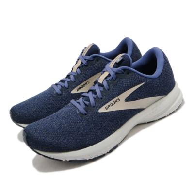 Brooks 慢跑鞋 Launch 7 運動 男鞋 路跑 緩震 DNA科技 透氣 健身 球鞋 藍 棕 1103241D402