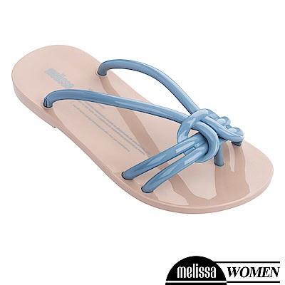 Melissa 扭結線條質感涼拖鞋-藍