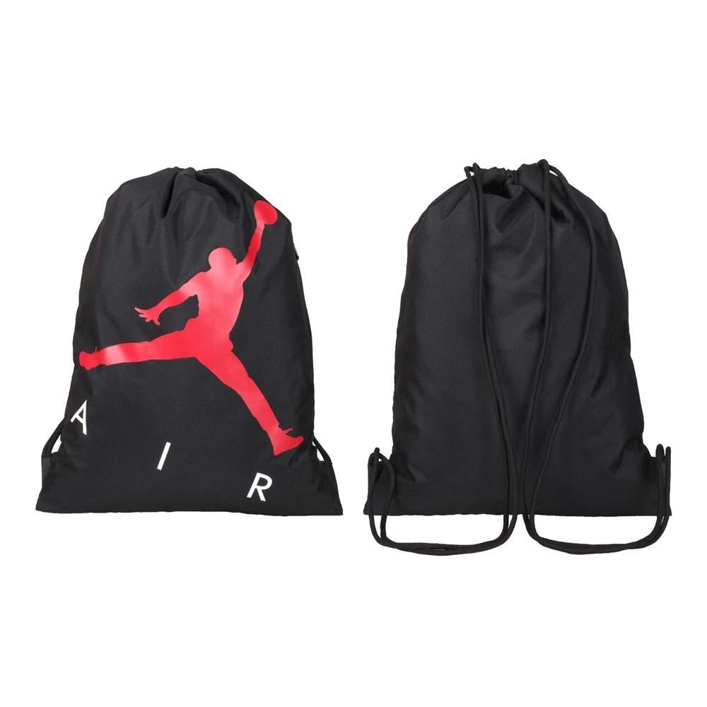 NIKE JORDAN 束口袋-飛人喬丹 後背包 雙肩包 肩背包 束口包 JD2113040AD-001 黑紅白