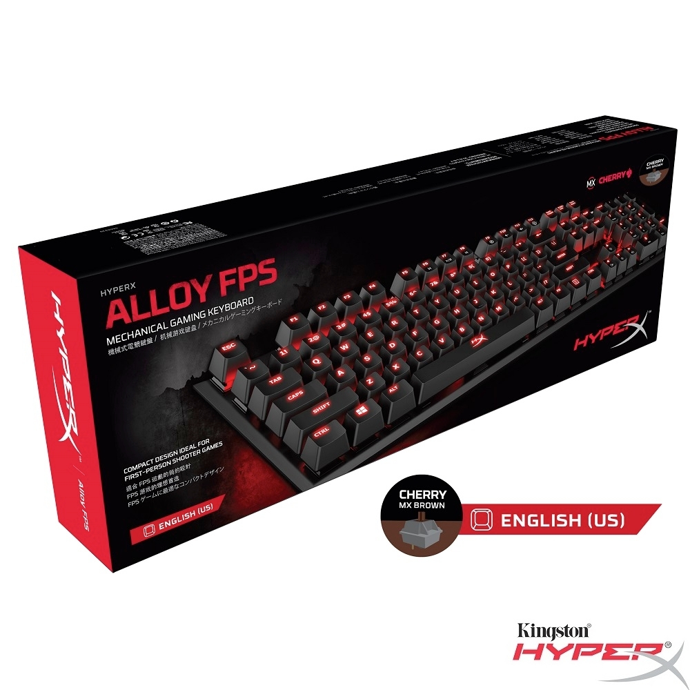 HyperX Alloy FPS 機械式 電競鍵盤 (英文-Cherry MX 茶軸)