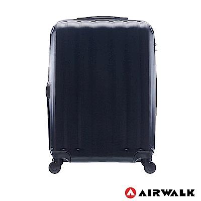 AIRWALK - 海岸線系列 BoBo經濟款ABS硬殼拉鍊24吋行李箱 - 黑水黑