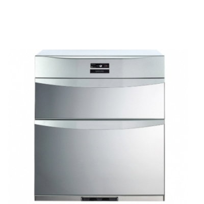 (全省安裝)櫻花落地式熱風循環臭氧殺菌高68cm烘碗機銀色Q-7592B