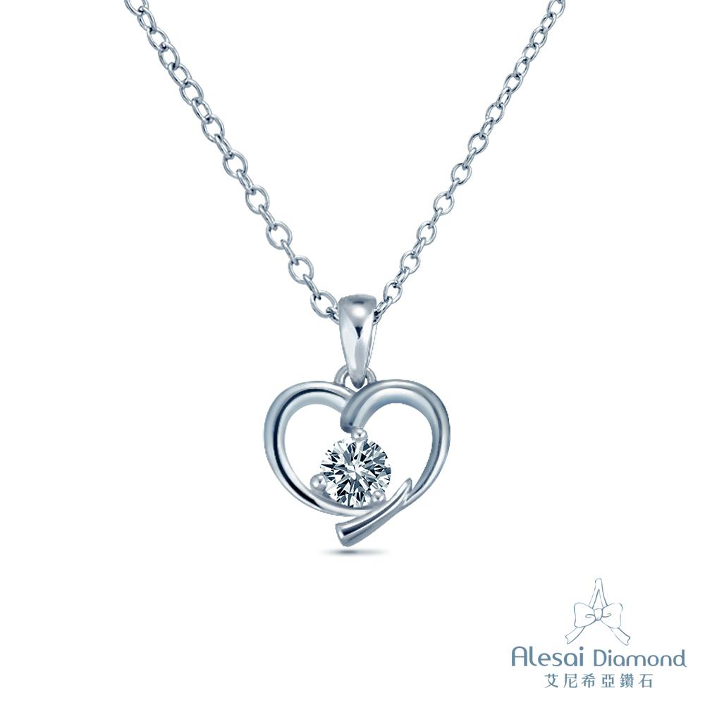 Alesai 艾尼希亞鑽石 GIA D/SI2 30分 14K 愛心鑽石項鍊