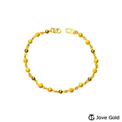 Jove Gold 漾金飾 花漾年華黃金手鍊-小