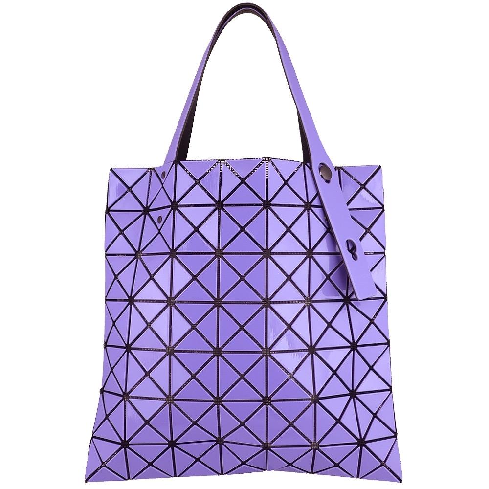 ISSEY MIYAKE 三宅一生BAOBAO 三角格7x7手提包(粉紫)