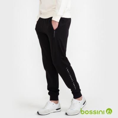 bossini男裝-束口針織棉褲03黑