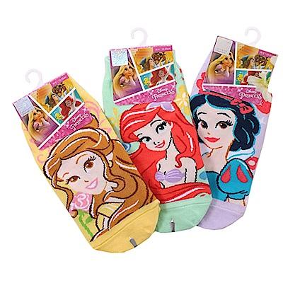 迪士尼公主直版襪(3雙一組)k50632 魔法Baby