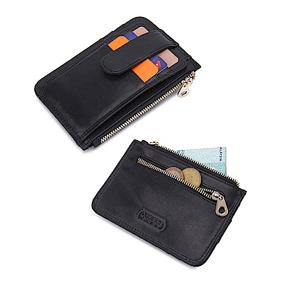 leaper CONTACTS RFID屏蔽防側錄真皮卡片證件夾零錢袋