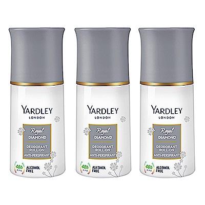 YARDLEY雅麗 英國水晶體香劑 50ml (3入)