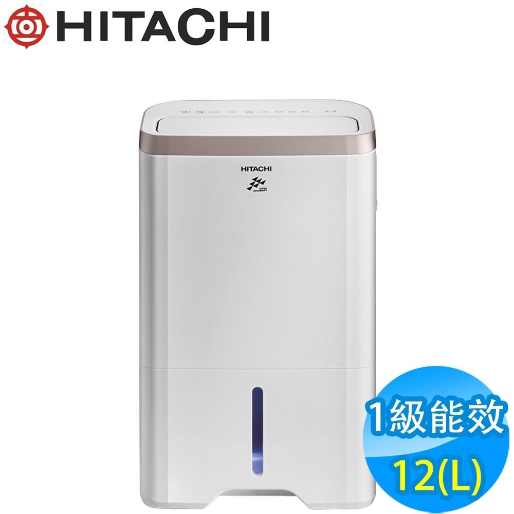 HITACHI日立 12L 1級LED觸控負離子清淨除濕機 RD-240HG 玫瑰金
