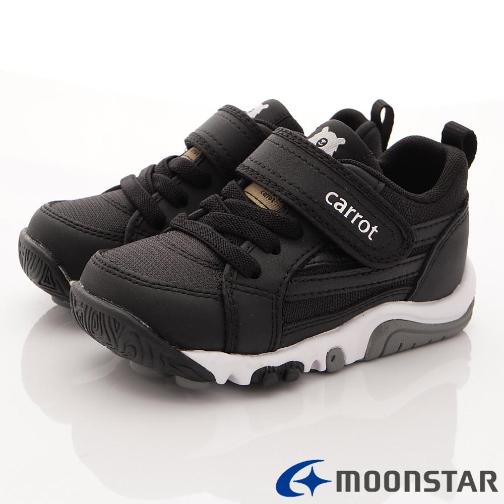 日本Carrot機能童鞋 2E玩耍公園鞋款 TO1896黑(中小童段)