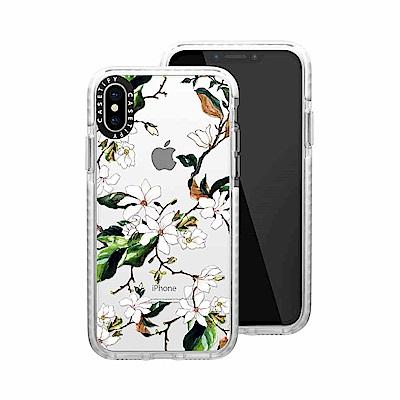 Casetify iPhone X/XS 耐衝擊保護殼-木蘭花