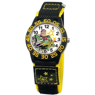 DISNEY迪士尼 Toy Story玩具總動員織帶手錶 巴斯光年33mm黑殼