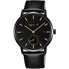 agnes b.法式風情簡約手錶(BN4004X1)-黑/38mm