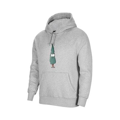 Nike 帽T SB Fleece Hoodie 男款 運動休閒 杉樹 塗鴉 磨毛 柔軟 口袋 灰 綠 DJ3677-063