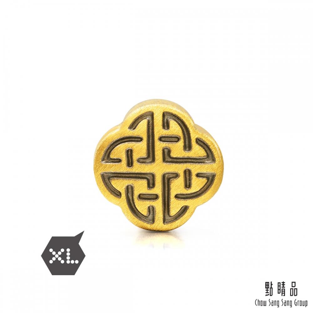 點睛品 999純金 Charme XL 酷黑系列 和諧 黃金串珠