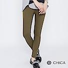 CHICA 美式率性風縫線口袋修身長褲(2色)