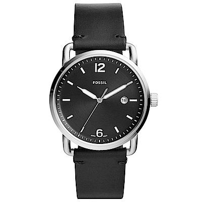 FOSSIL RUNWAY簡約時標時尚皮革腕錶(FS5406)-黑/42mm
