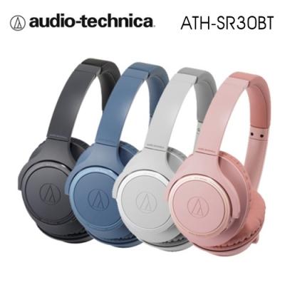 鐵三角 ATH-SR30BT 輕量化 無線藍牙耳罩式耳機 續航力70HR