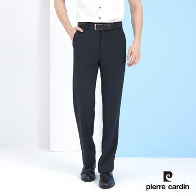 Pierre Cardin皮爾卡登 男裝 暗條紋平口西裝褲-丈青色 (5217842-39)