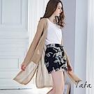 正韓縷空編織雙口袋度假罩衫 TATA