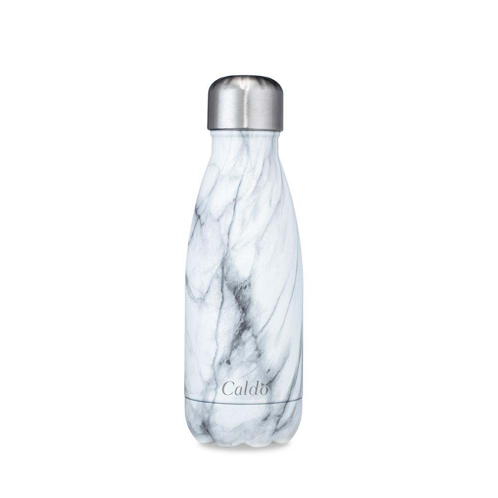 Caldo卡朵生活 大理石紋雙層不鏽鋼保溫瓶260ml