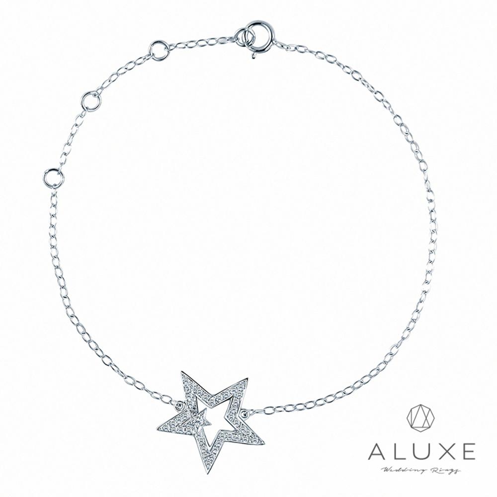 A-LUXE 亞立詩 18K金 星願鑽石手鍊