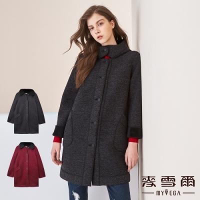【麥雪爾】太空棉輕量保暖連帽外套-共兩色
