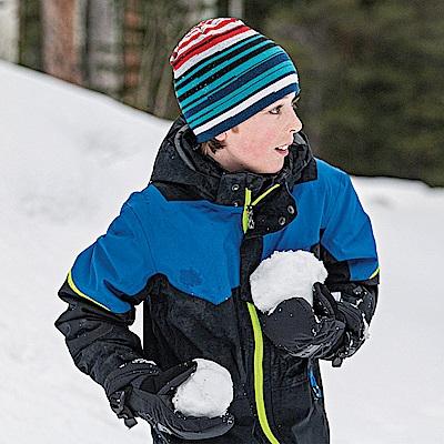 SmartWool 孩童雙面條紋圓帽 黑色 L/XL