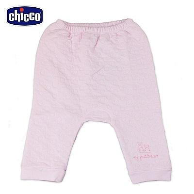 chicco-夾棉初生褲-粉( 3 - 6 個月)