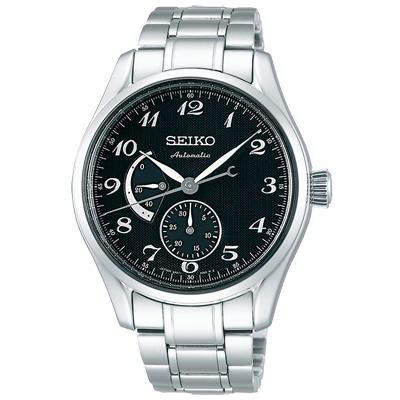SEIKO 精工 Presage典藏時尚機械手錶SPB043J1-黑X銀/40mm