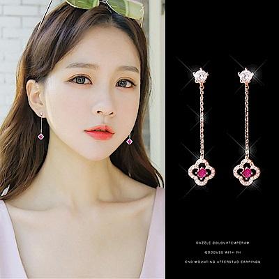梨花HaNA 韓國925銀玫瑰花朵鏤空珠寶耳線耳環 @ Y!購物