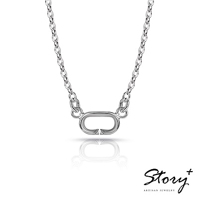 STORY故事銀飾-Charm扣扣系列-基礎項鍊(白K金款)
