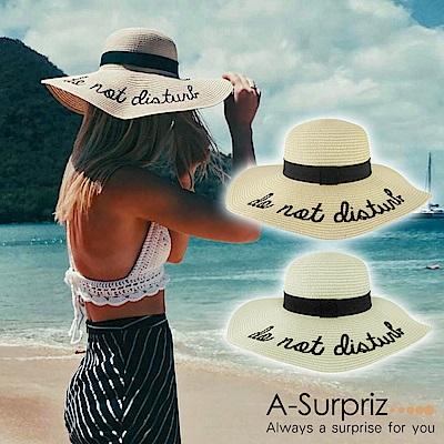 A-Surpriz DO NOT DISTURB大草帽(2色選)