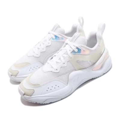Puma 休閒鞋 Rise Glow 運動 女鞋 輕量 透氣 舒適 簡約 球鞋 穿搭 白 銀 37285501