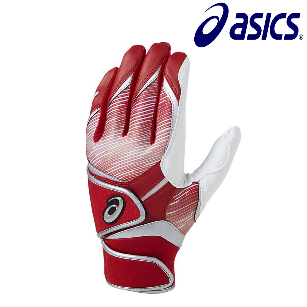 Asics 亞瑟士 打擊手套 一雙 紅白 BEG281-2301