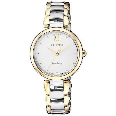 CITIZEN 星辰 L光動能璀璨時尚手錶(EM0534-80A)-半金/29mm