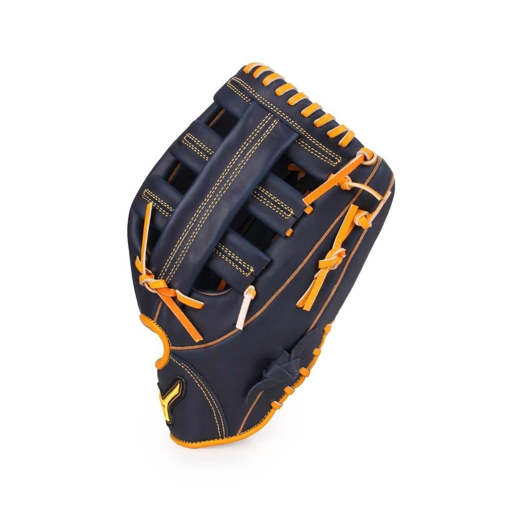 MIZUNO 棒球手套外野手用 丈青黃